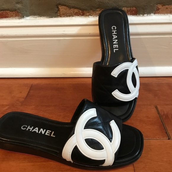 c0a848e2fb7821 CHANEL Shoes - 100% Authentic Chanel leather slides PRICE FIRM